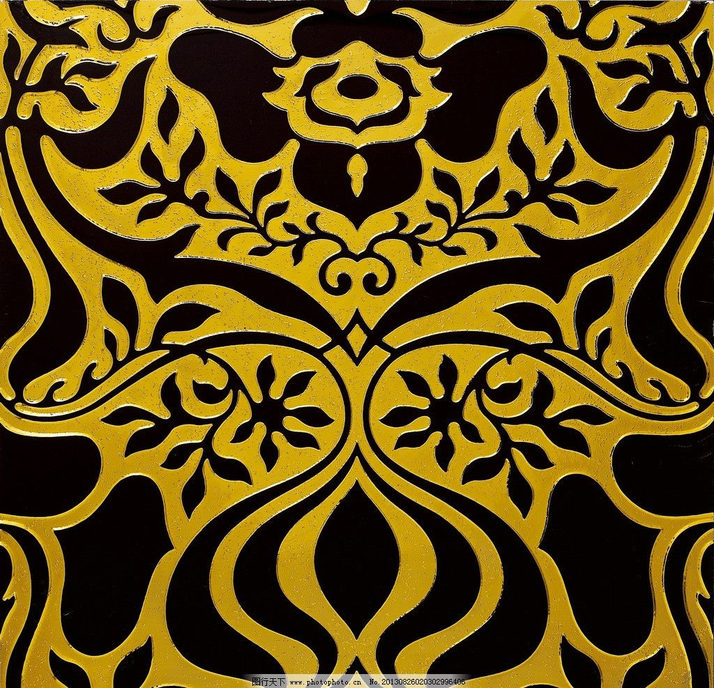 平面构成 色彩构成 装饰砖 金黄色 黑色 曲线 欧式花纹 花边花纹 底纹