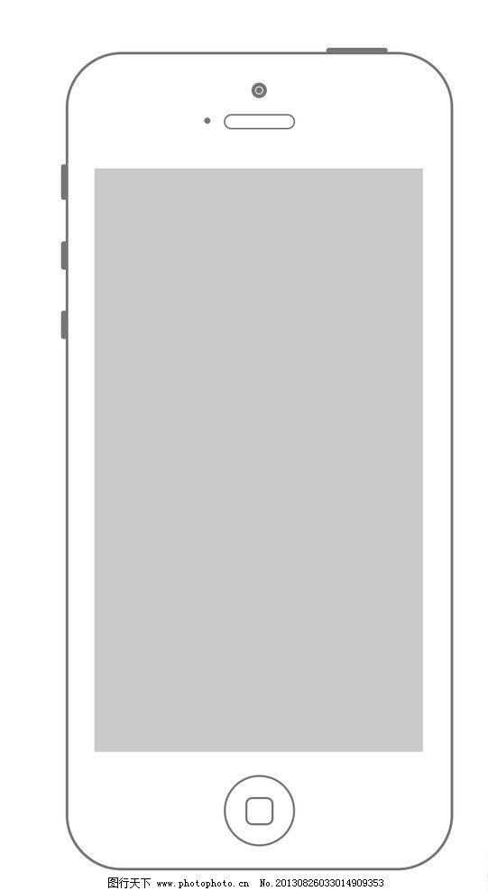 线描-苹果手机线框素材