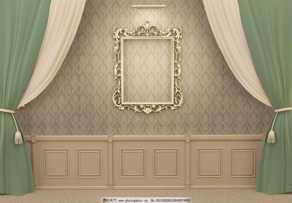 欧式背景墙图片