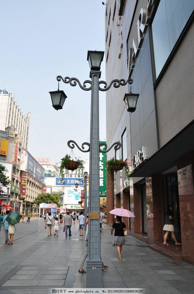 路灯 春熙路 商业街 购物 休闲 时尚 城市中心 成都春熙路 国内旅游