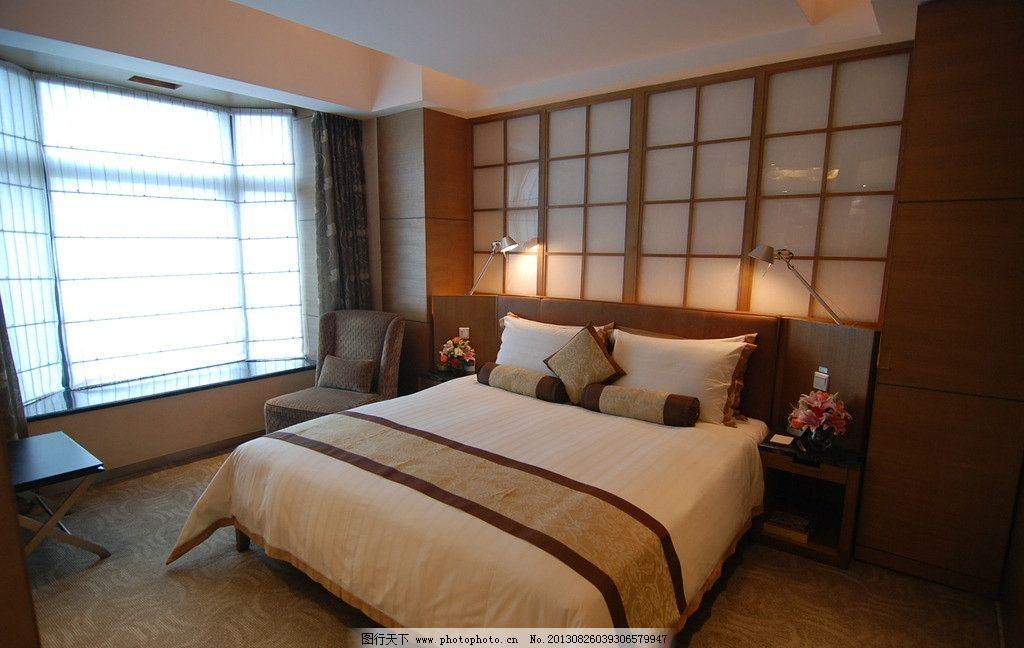 酒店 旅馆 公寓 客房 高档 精致 优雅 布置 摆设 大床 床铺 枕头 客房