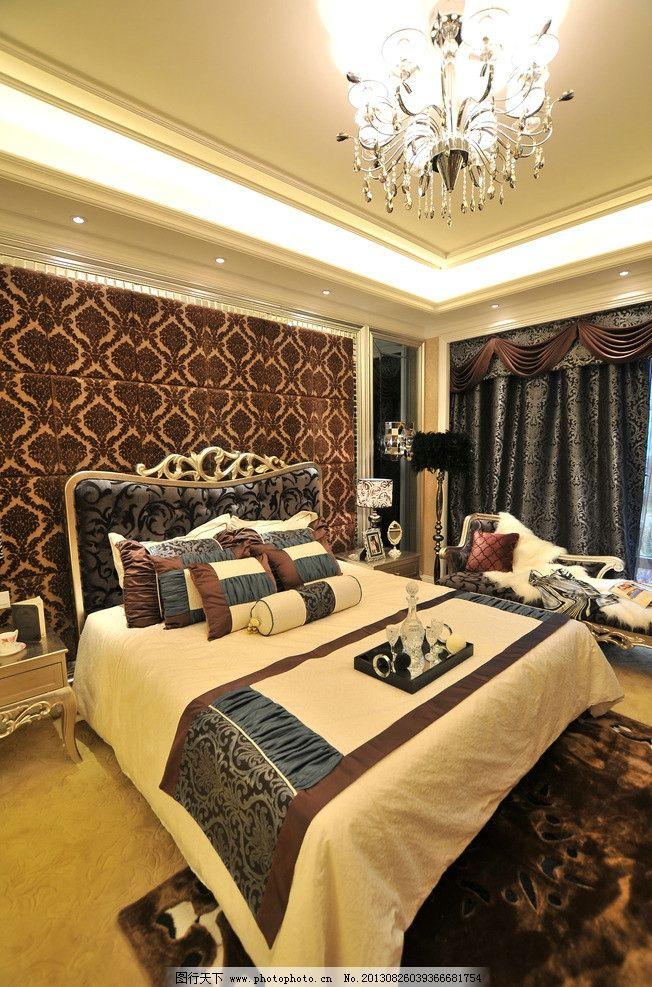 欧式精装样板房卧室