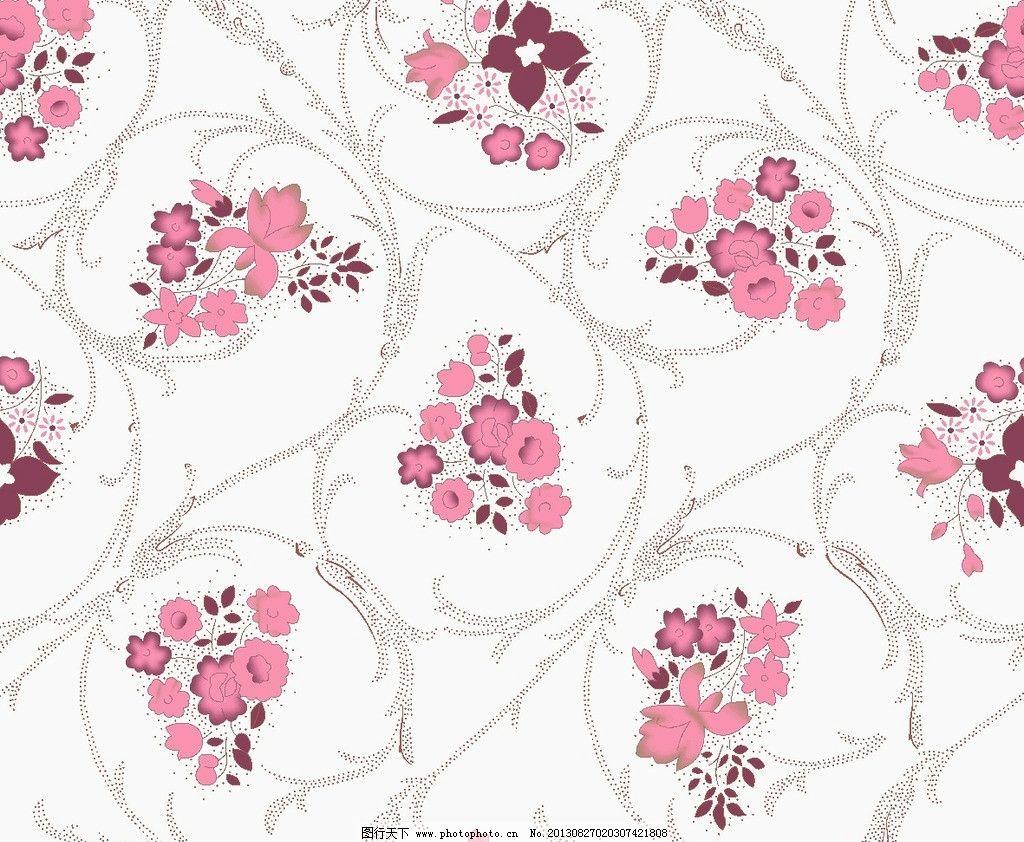 墙纸设计 小碎花 服装面料 花卉 植物 叶子 底纹 花边花纹 底纹边框