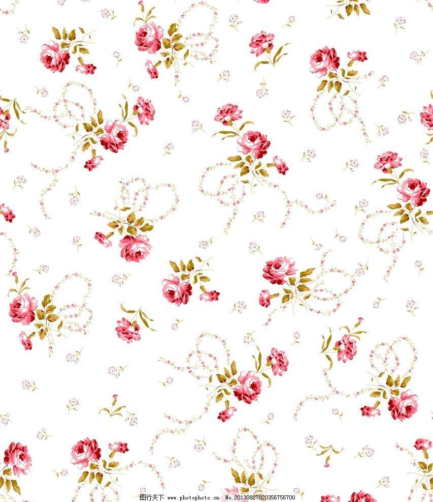面料设计 墙纸设计 服装面料 小碎花 花卉 植物 叶子 底纹 花边花纹