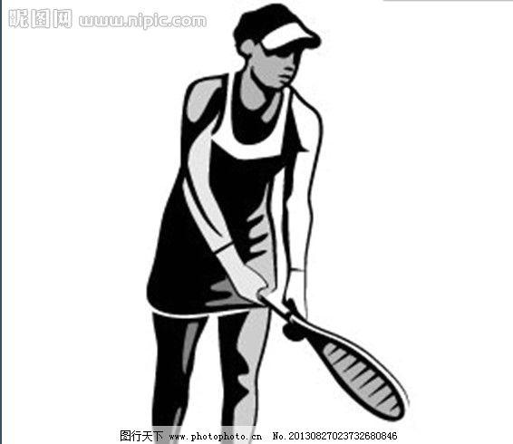 手绘 素描 速写 线条 卡通 漫画 插画 动画 人物 运动 帽子 网球 打