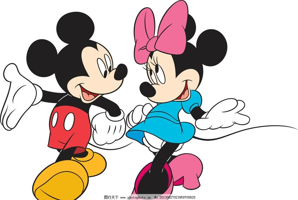 迪士尼 迪士尼矢量素材 迪士尼模板下载 米老鼠 迪士尼卡通 卡通人物