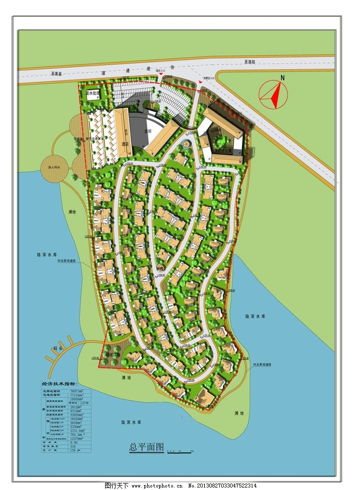 小区规划总平面图 小区 规划 景观 总平 滨水区 专卖店店面设计 psd