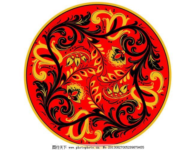 圆形凤凰图案 圆形凤凰图案免费下载 龙蛇 矢量图 花纹花边