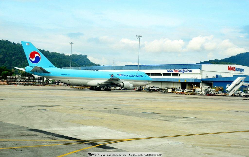 马来西亚机场 飞机 蓝天 客机 机场 交通工具 现代科技 摄影 300dpi j