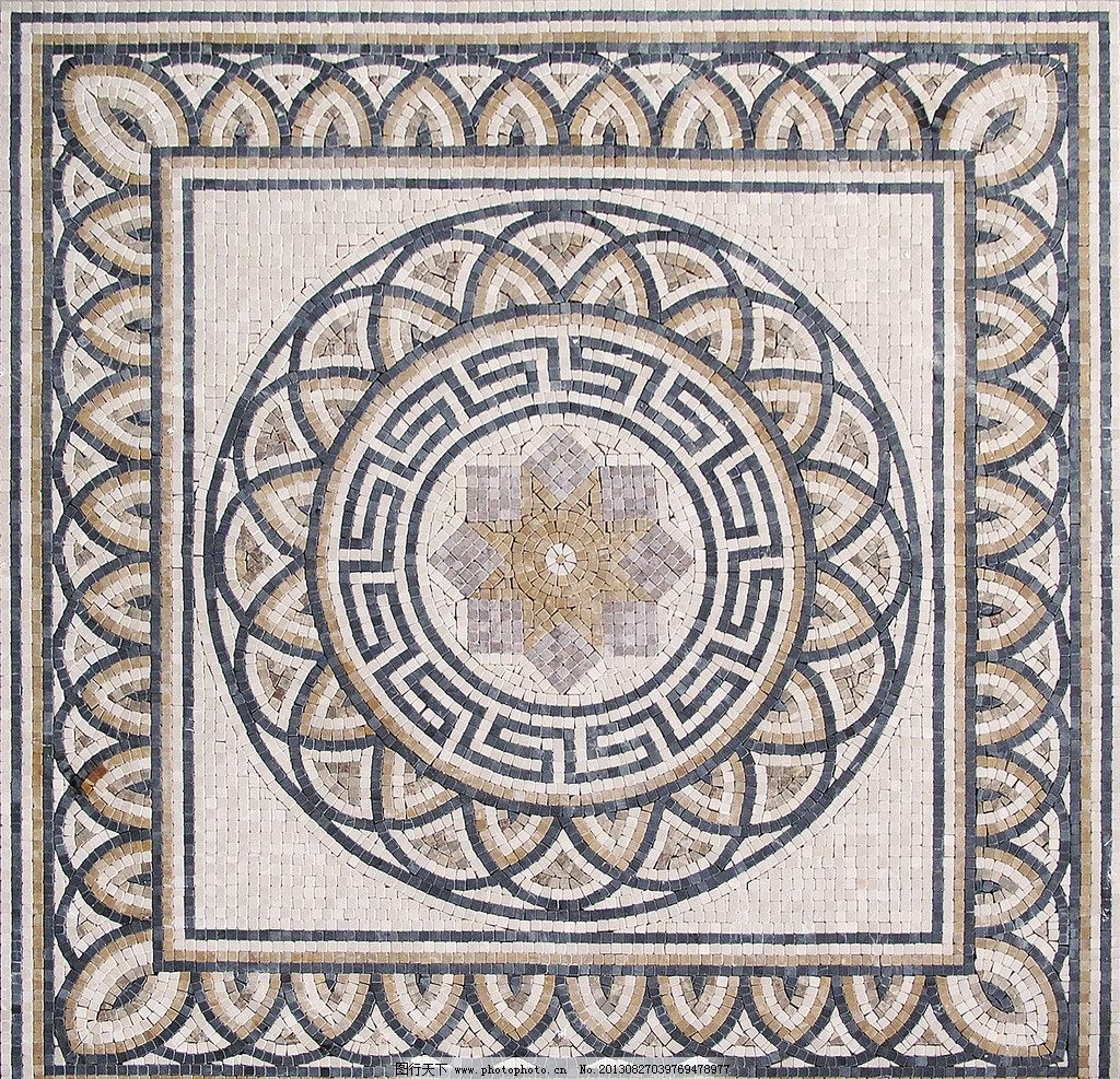 方格子 石材拼花 材质贴图