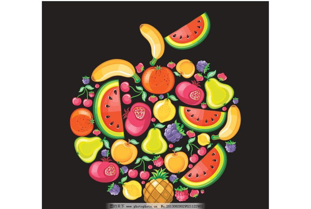 水果拼图图片