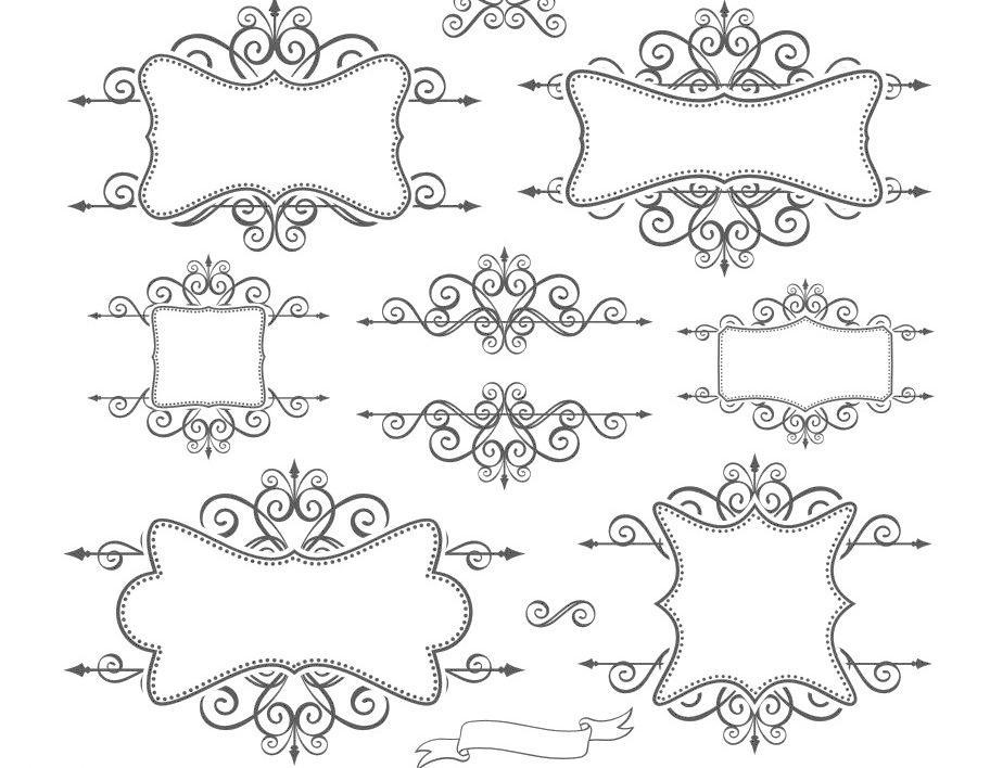 cdr 底纹边框 花 花纹 花纹花边 简约 简约花纹 欧式 欧式花边 欧式