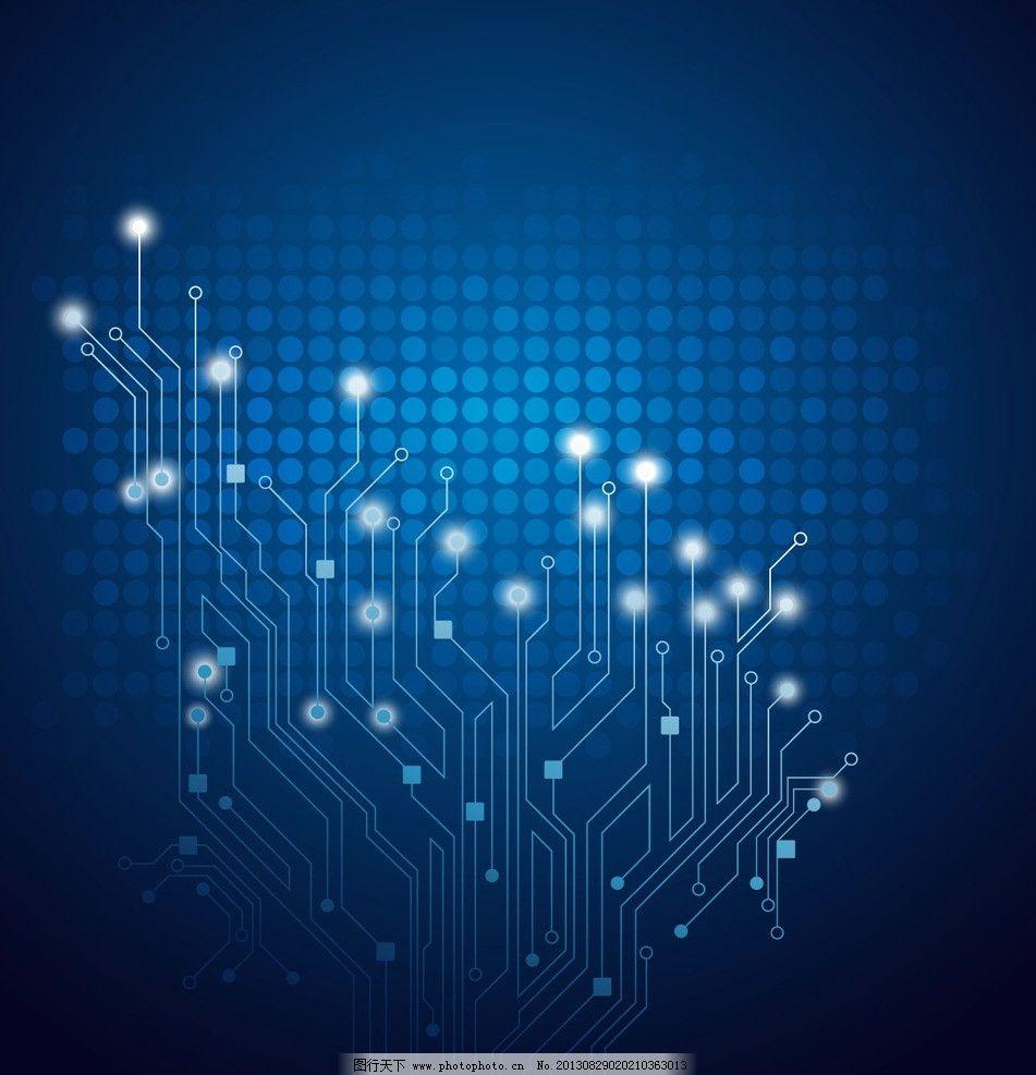 蓝色科技背景 电路板 电路板背景 电路板底纹 集成板 工业生产
