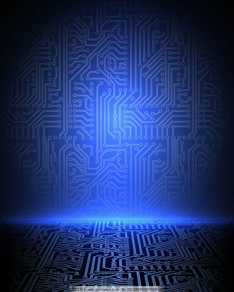 电路板背景 电路板 蓝色科技背景