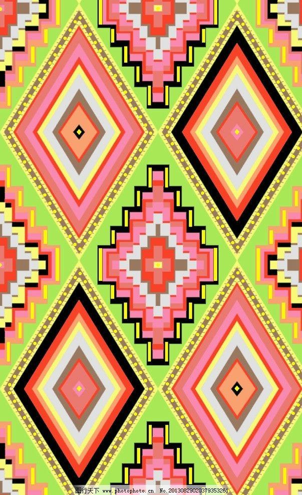 服装面料 底纹 现代 线条 现代几何 菱形 纺织品设计 底纹边框 设计 7