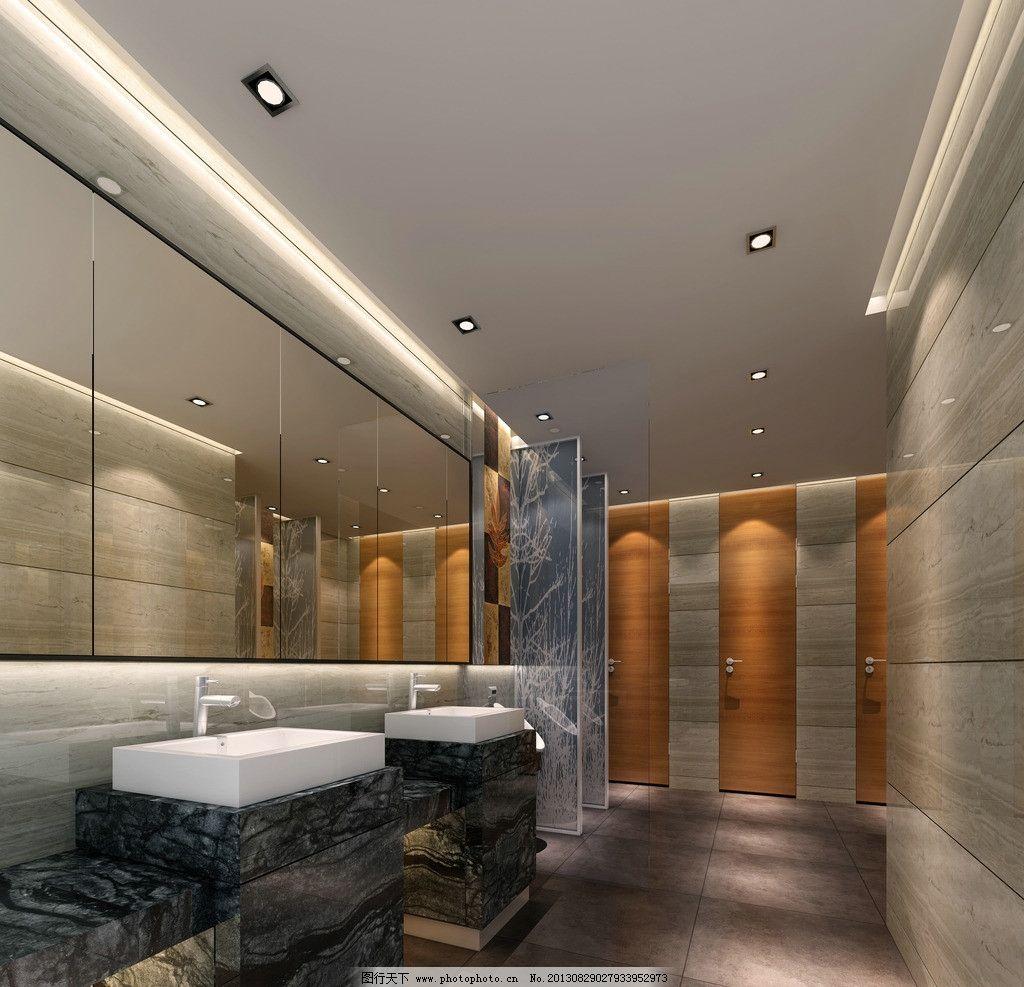 室内建筑效果图 室内效果图 装修效果图 洗手间 玻璃 吊顶 大理石
