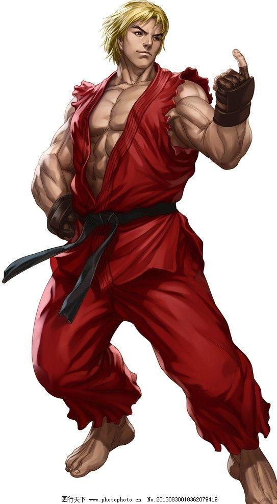 动漫人物 动漫 卡通 街霸 街头霸王 肌肉 战士 肯 空手道 动漫游戏 动