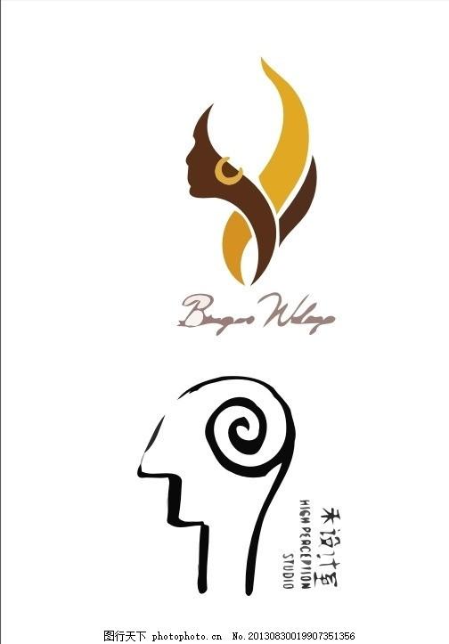 肖像logo 人像 人脸 人物 脸      脸部 头部 人头 肖像 外国 国外