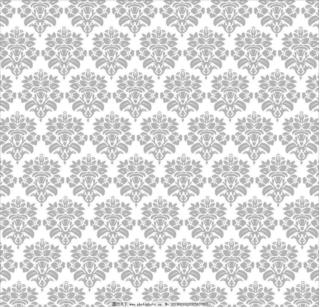欧式图案 欧式花纹 花纹 图案 联续图案 黑白图案 底纹 背景 花纹花边