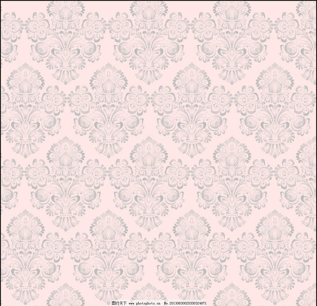 欧式花纹 图案 联续图案 黑白图案 底纹 背景 花纹花边 矢量