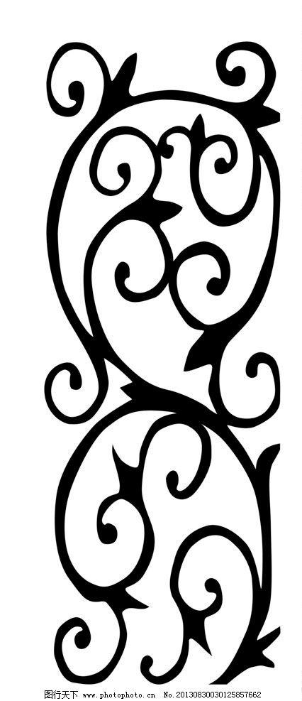 玻璃刻花 玻璃花子 雕花 木雕 花纹花边 底纹边框 移门图案 广告设计