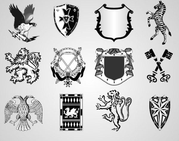 复古盾牌矢量素材免费下载 标志 盾牌 复古 欧式 欧洲 复古 盾牌 欧式