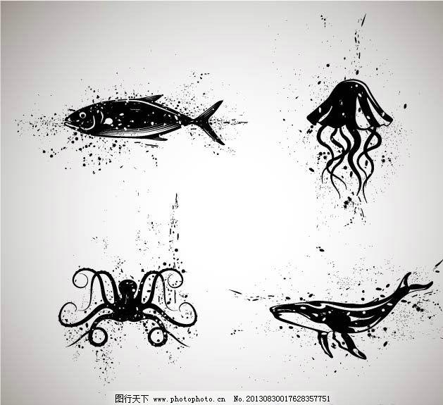 墨迹动物 海洋动物图片