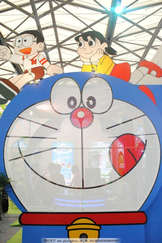 叮当猫 卡通造型 展示 可爱 卡通 小人物 陈列 其他 文化艺术 摄影