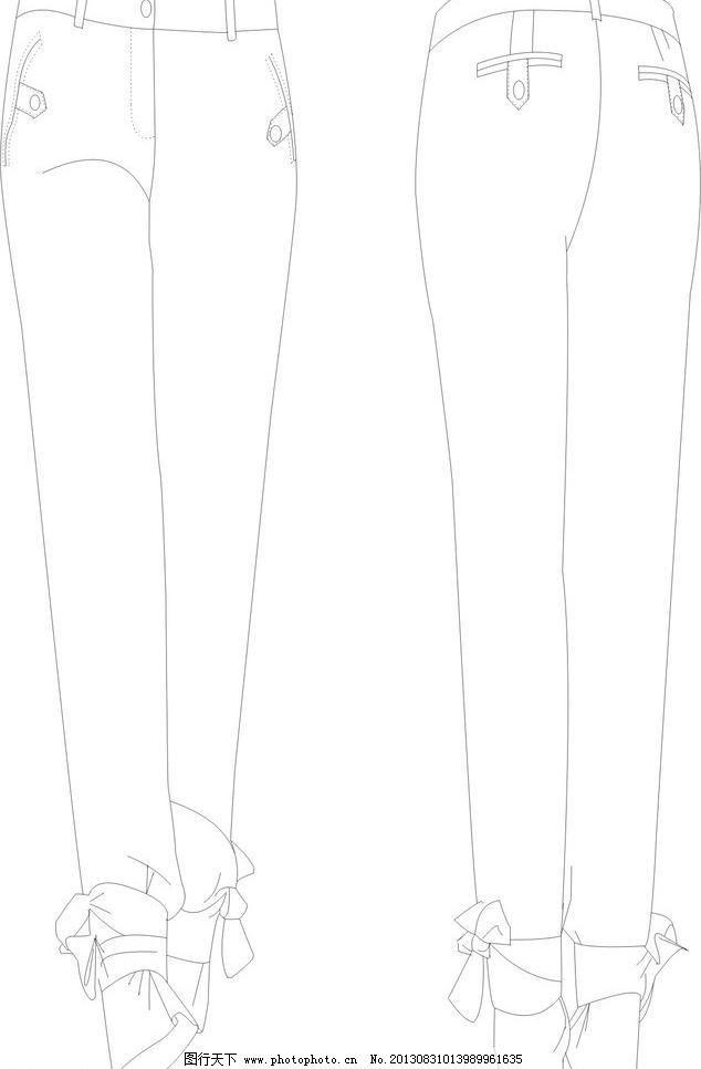 女装裤子款式设计图片