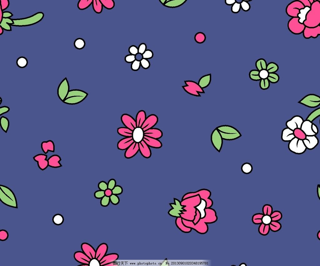 服装面料 小碎花 花卉 植物 叶子 底纹 小花 花边花纹 底纹边框 设计