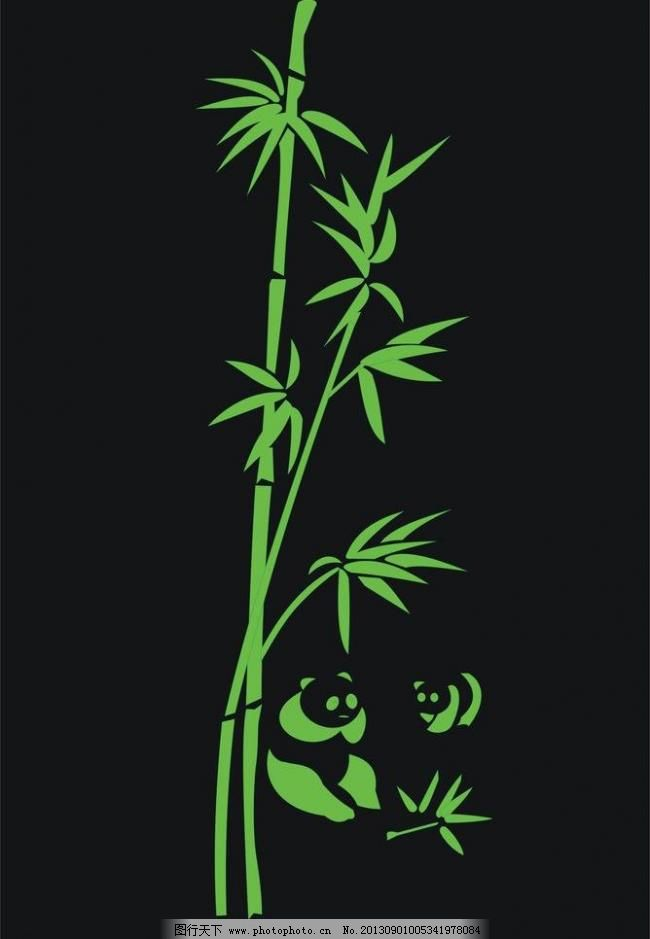 竹子大熊猫图片