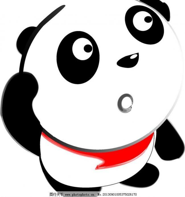 cdr 广告设计 卡通人物 卡通设计 可爱 猫 新年 熊 熊猫 疑问 可爱