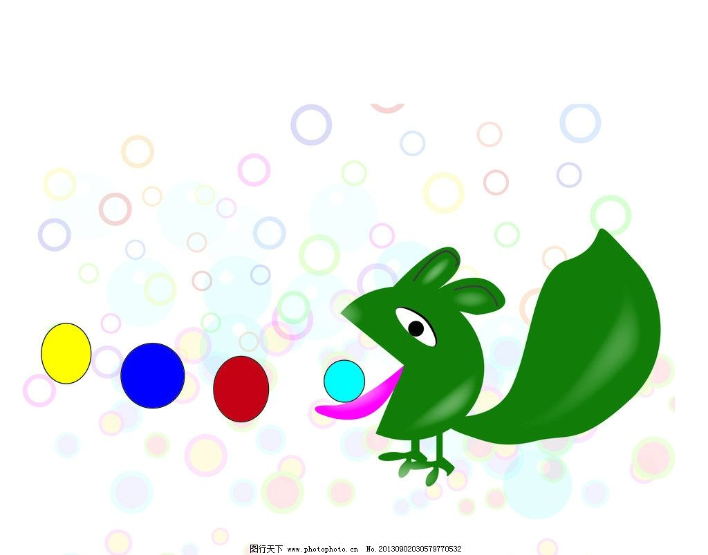 可爱背景 吃豆豆 绿色背景 卡通图片 矢量背景图片 儿童背景 小玩具