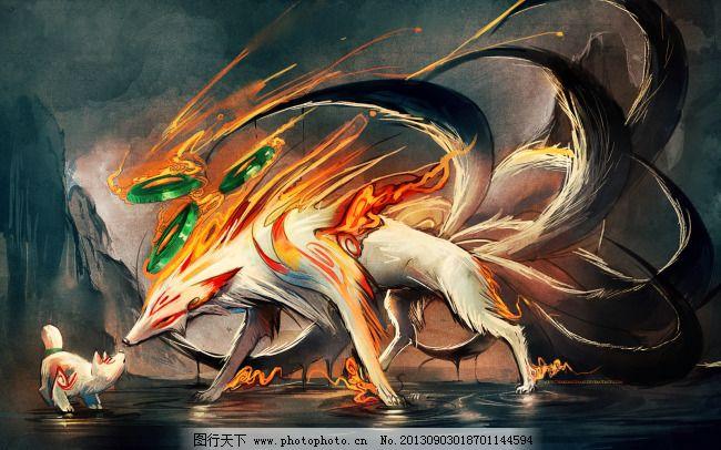 火影忍者 九尾 灵兽 妖狐 火影忍者 图片素材 卡通|动漫|可爱图片