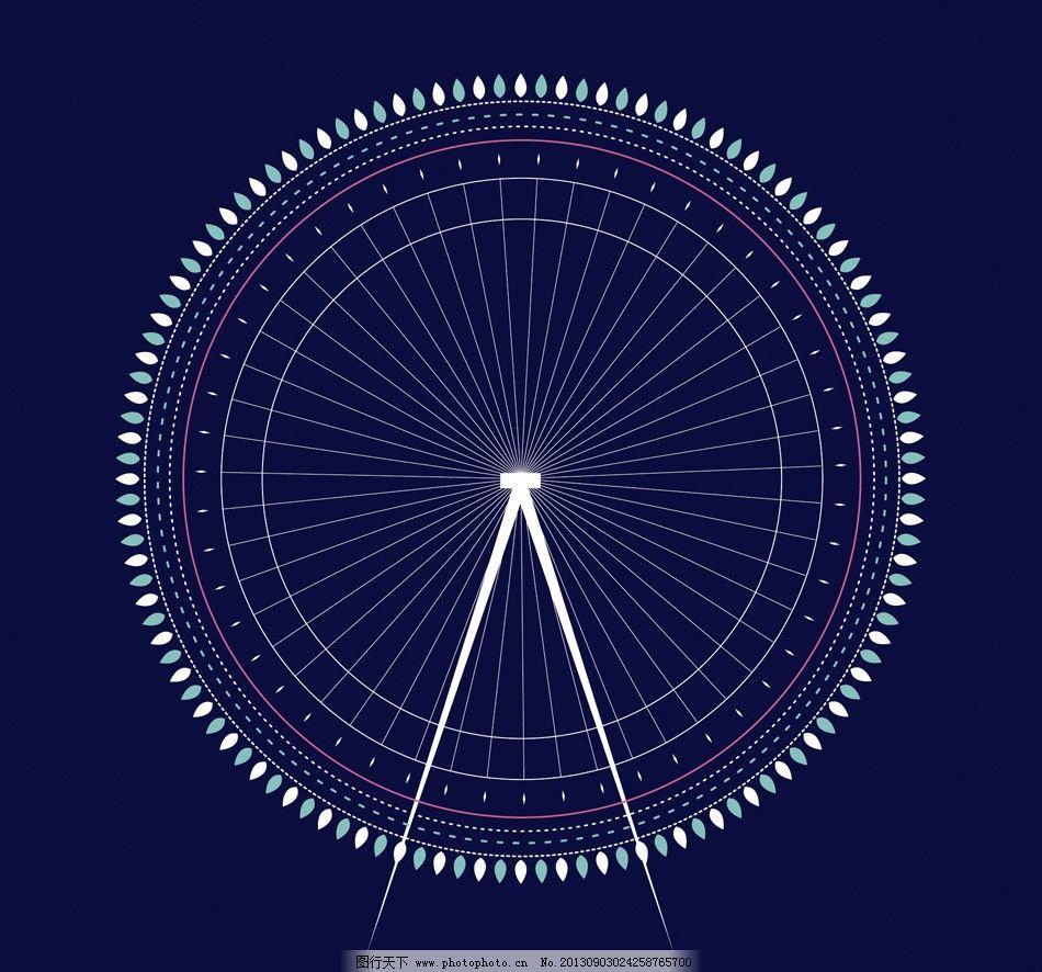 圆规画的复杂美丽图案步骤