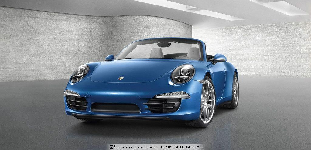 保时捷911 蓝色保时捷 蓝色跑车 酷跑 超级跑车 敞篷跑车 高端跑车