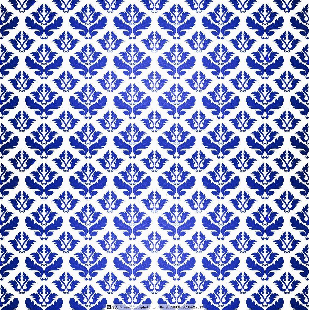 欧式蓝白底纹 欧式 蓝色 白色 花纹 底纹 背景底纹 底纹边框 设计 300