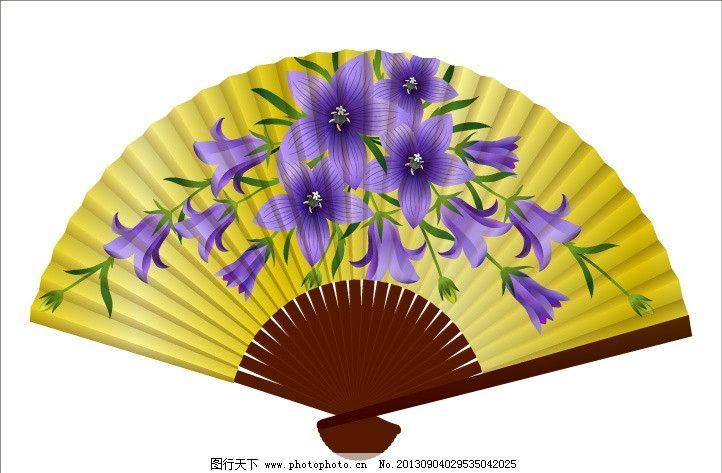 扇子 折扇 花卉 广告设计 美术绘画 文化艺术 扇子图案 图案设计 矢量