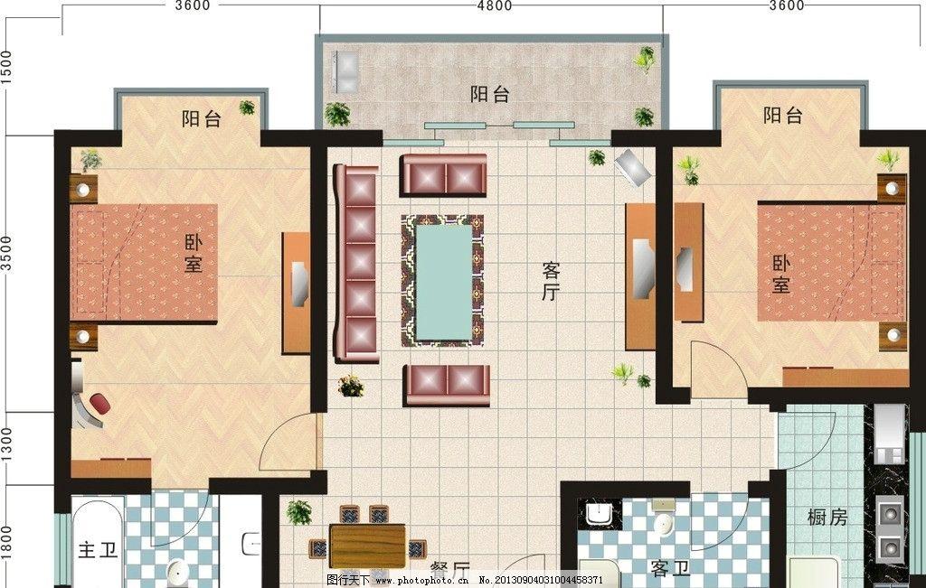 家居平面图 家居平面布置图 房屋户型图 家庭装修图片 房地产 效果图图片