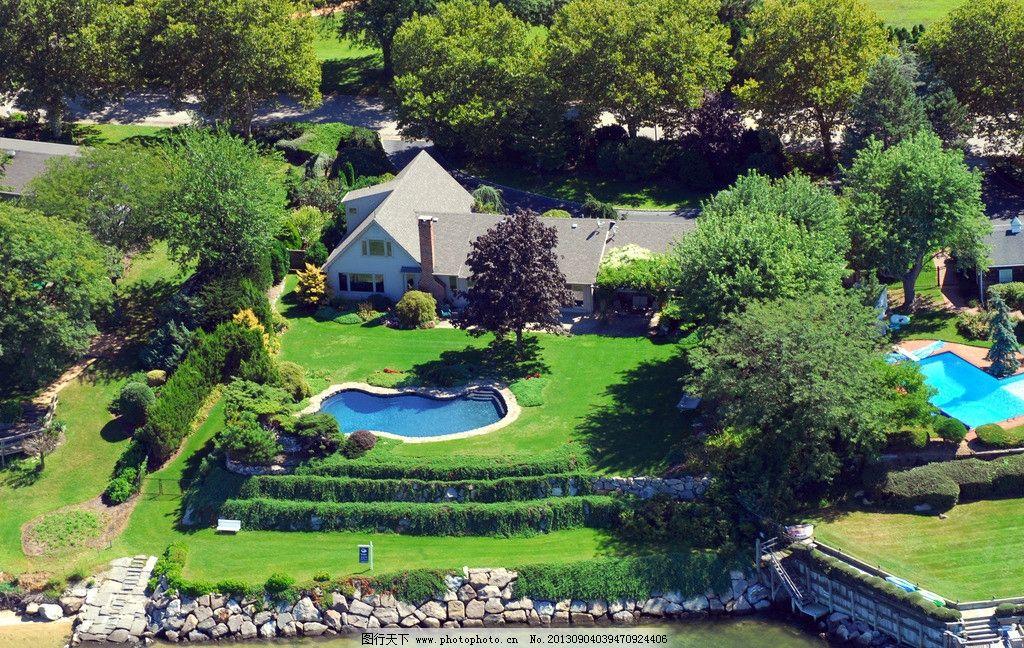 森林别墅游泳池图片
