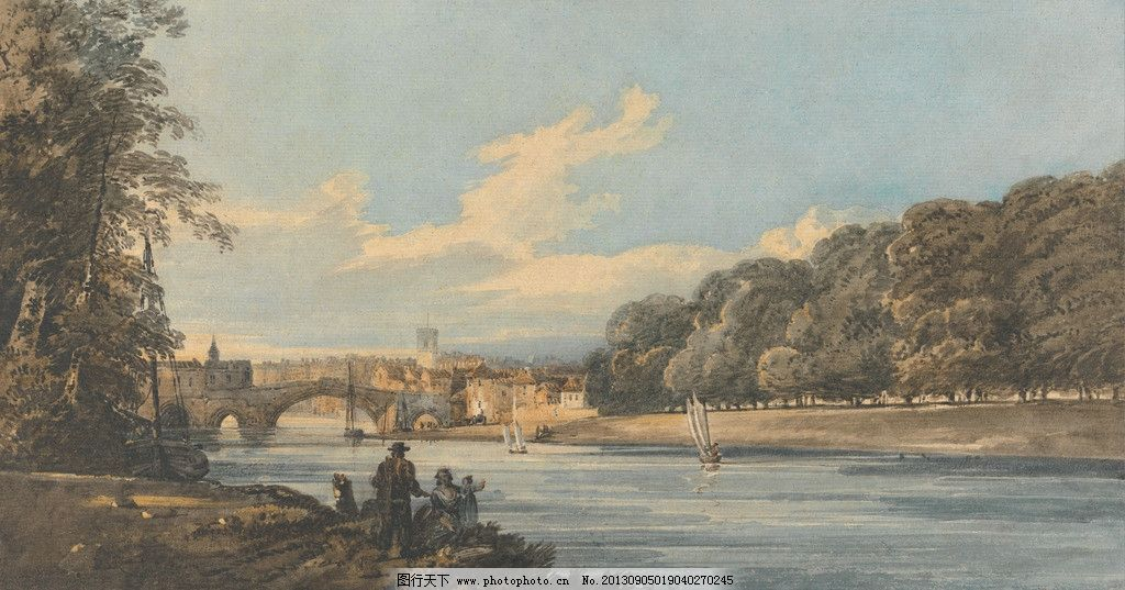 风景油画 托马斯 吉尔丁 油画作品 著名油画 国外油画 西方古典油画