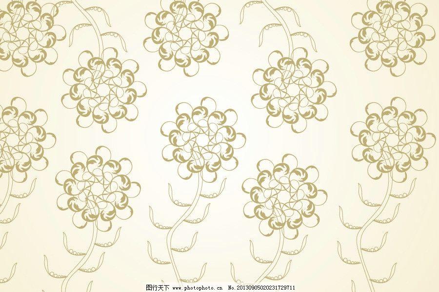 欧式浅色花纹壁纸