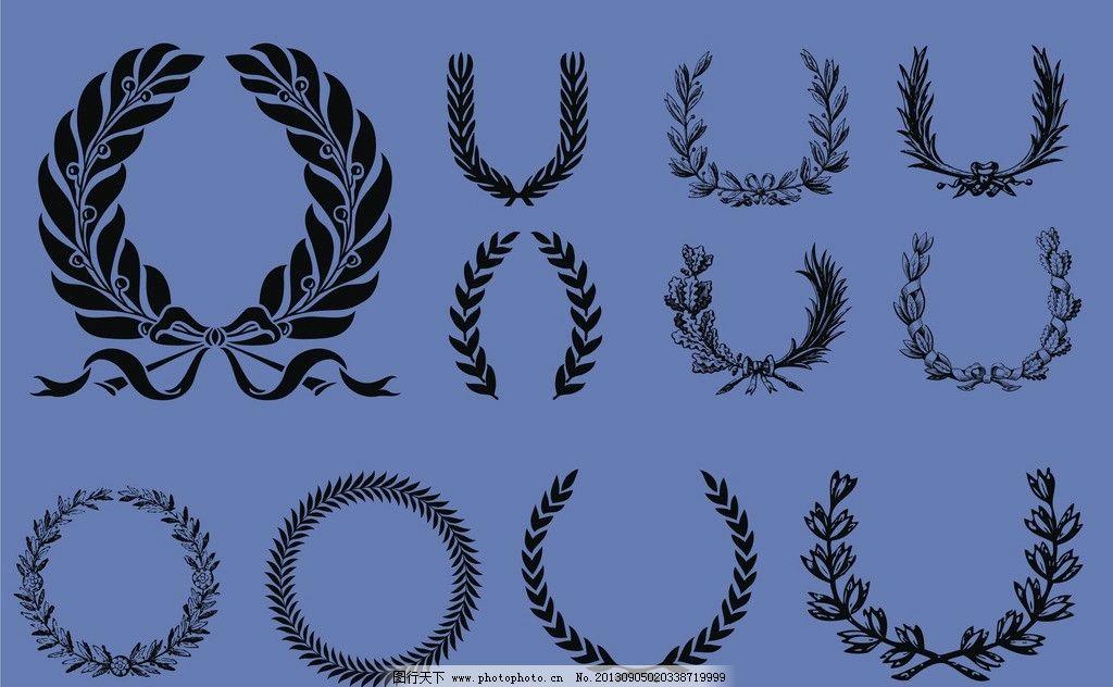 设计图库 海报设计 节日海报  麦穗 标志 麦 素材 皇家 欧美 欧式