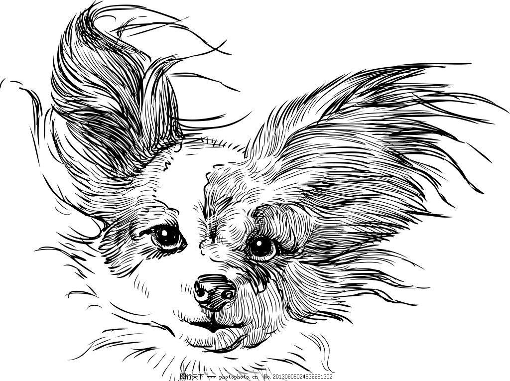 可爱的小狗 卡通 手绘 小狗 狗 狗仔 宠物狗 动物 宠物 动物世界 矢量