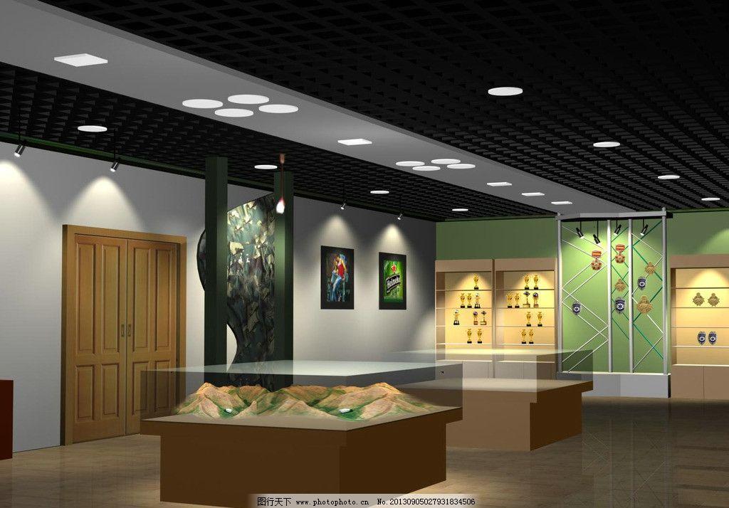 荣誉室 部队展室效果图 3d 装修 效果图装修 专业设计 室内设计 环境