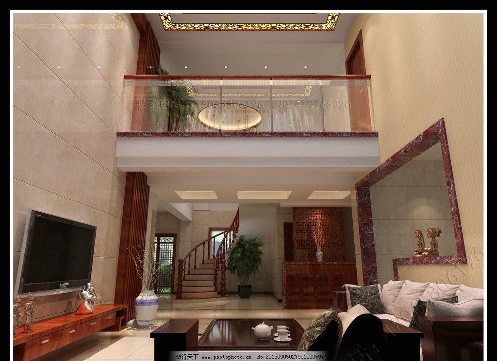 新中式旋转楼梯