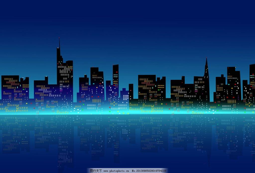 建设 城市建设 工厂 繁荣 繁华 剪影 插图 手绘 背景 矢量 城市建筑