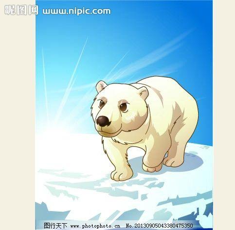 可爱动物绿色大白熊图片