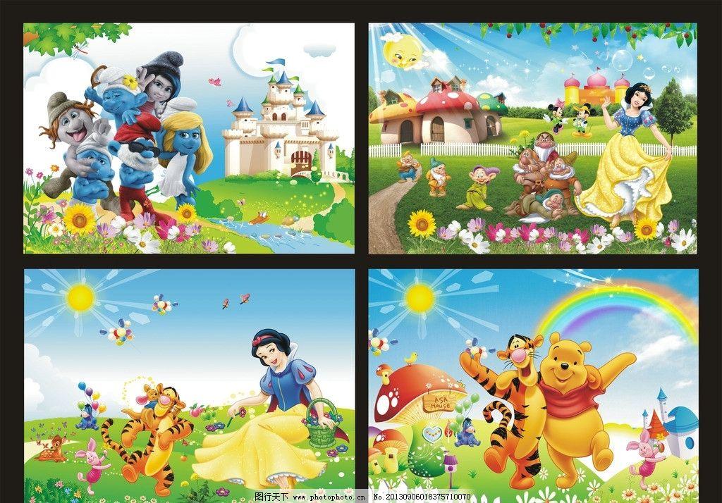 幼儿园边框卡通蘑菇房子图片