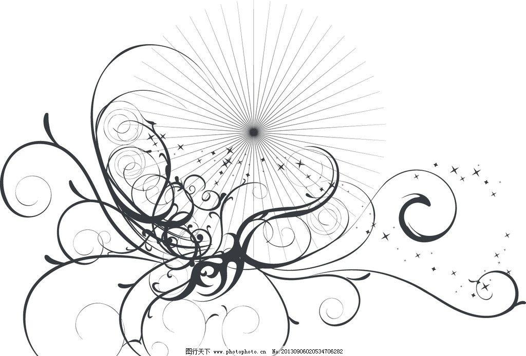 花纹背景 花纹 动感线条 华丽曲线 条纹 炫彩 欧式花纹 古典花纹 潮流